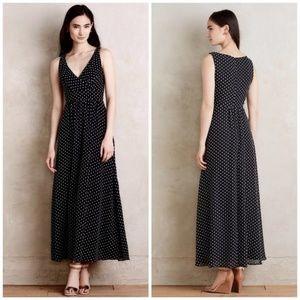 Anthropologie Eva Franco Clip Dot Maxi Dress